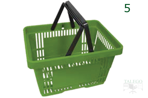 Cesta de compras con asa verde