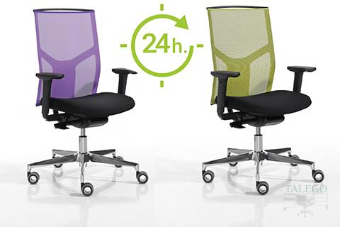 Sillas con respaldo de rejilla verde y lila modelo do atika 24 horas