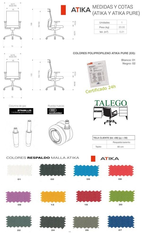 medidas y tapizados para respaldo en la silla do atika