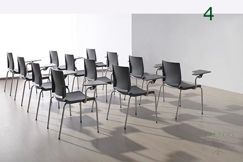 Composición de sillas de pala fenolico atenea