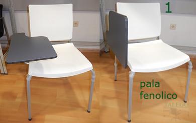 vista de pala en varias posiciones en la silla de pala do atenea