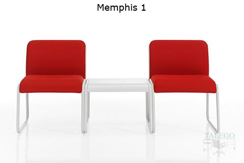 Modulos individuales de espera do memphis con mesa auxiliar central