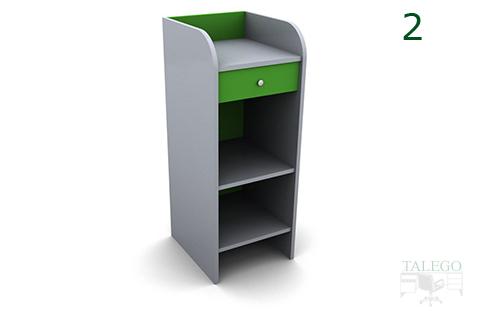Mostrador de caja em modelo 1 en verde y blanco