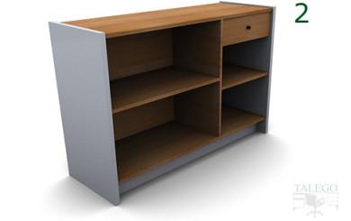 Mostrador de madera dm modelo em modelo 2
