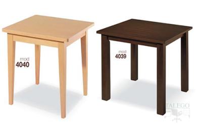 Mesa de bar cuadrada de madera en dos colores
