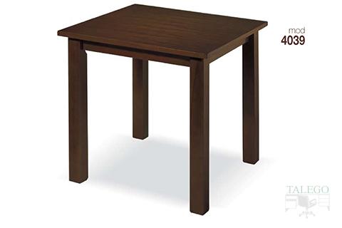 Mesa de bar cuadrada en madera wengue