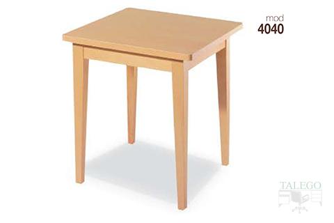 Mesa de bar cuadrada en madera de haya