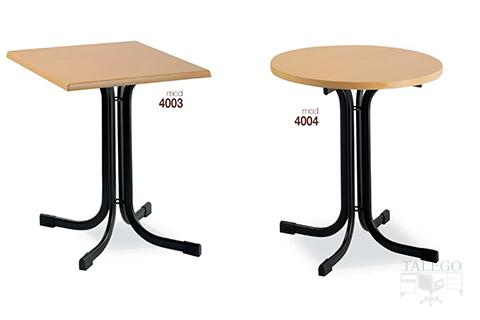 mesas de bar altura normal estructura metalica modelos 4003 y 4004