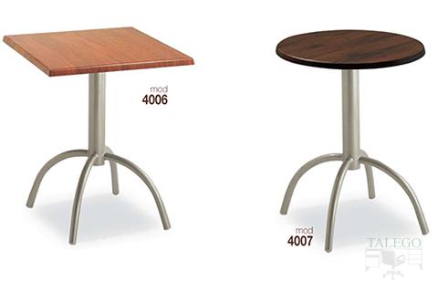 mesas de bar altura normal estructura metalica modelos 4006 y 4007