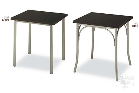 mesas de bar altura normal estructura metalica modelos 4009 y 4010