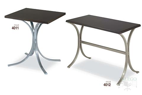 mesas de bar altura normal estructura metalica modelos 4011 y 4012
