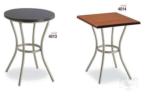 mesas de bar altura normal estructura metalica modelos 4013 y 4014