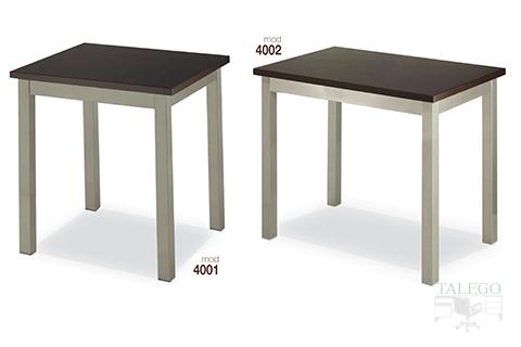 mesas de bar altura normal estructura metalica modelos 4001 y 4002