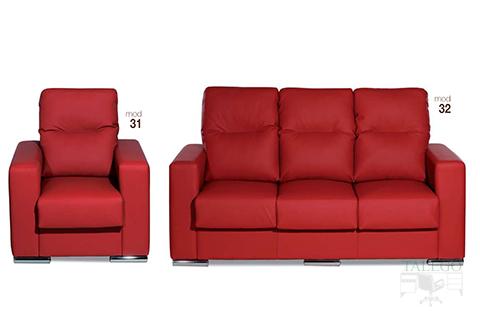 sofas tapizados en rojo modelos gh 31 y 32