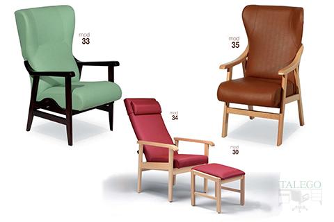 Sofas con estructura de madera reclinables y extensibles modelo gh 33, 34 y 35