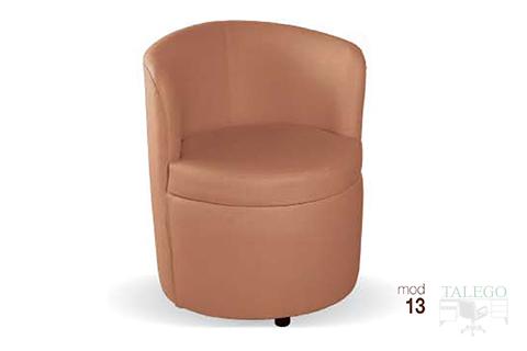 Sofá modelo 13 tapizado en marron