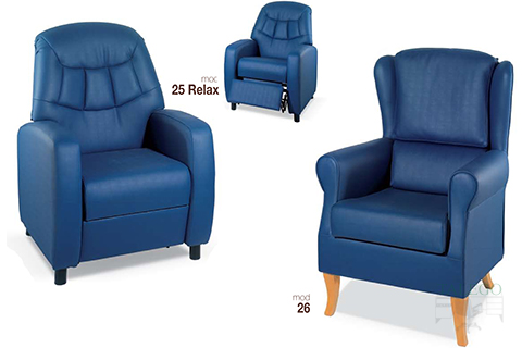 Sofas modelo gh 25 y 26 relax para personas mayores