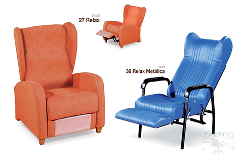 Sillones relax reclinables y extensibles modelo gh 27 y 39