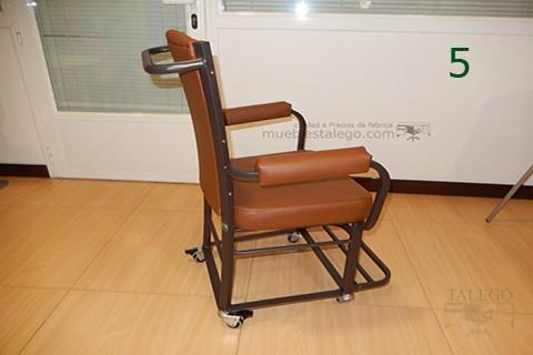 Vista lateral silla giratoria gh noria para geriatricos