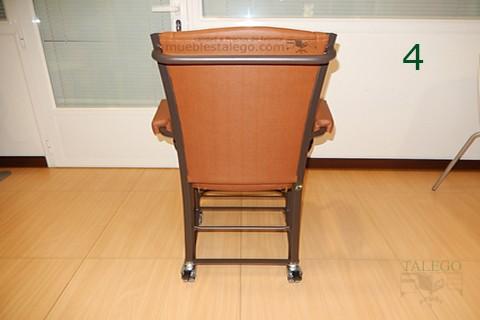 Vista trasera silla giratoria gh noria en polipiel marron