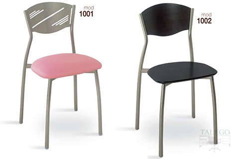 Sillas de bar estructura metalica modelo 1001 y 1002