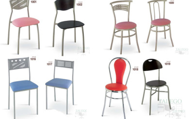 foto representativa de varias sillas metalicas grupo 1