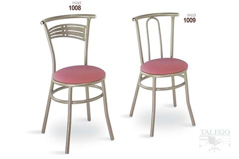 Sillas de bar estructura metalica modelo 1008 y 1009