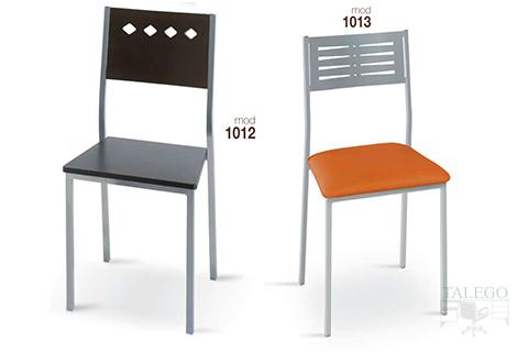 Sillas de bar estructura metalica modelo 1012 y 1013