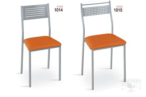 Sillas de bar estructura metalica modelo 1014 y 1015