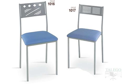 Sillas de bar estructura metalica modelo 1016 y 1017