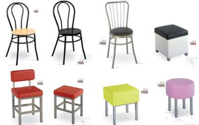 foto representativa de varias sillas metalicas grupo 2