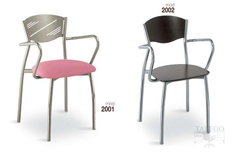 Sillones de bar estructura metalica modelo 2001 y 2002