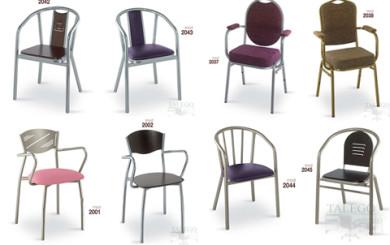 foto representativa de varios sillones metalicos