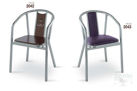 Sillones de bar estructura metalica modelo 2042 y 2043