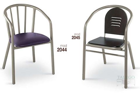 Sillones de bar estructura metalica modelo 2044y 2045