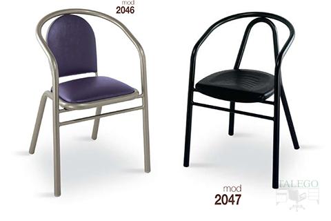 Sillones de bar estructura metalica modelo 2046 y 2047