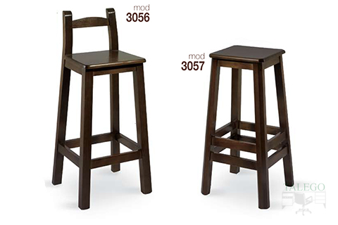 Taburetes de madera modelos 3056 y 3057