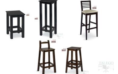 foto representativa de varios taburetes de madera