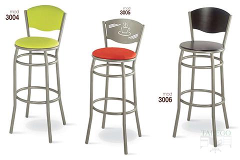 Taburetes de bar metálicos gh modelos 3004, 3005 y 3006