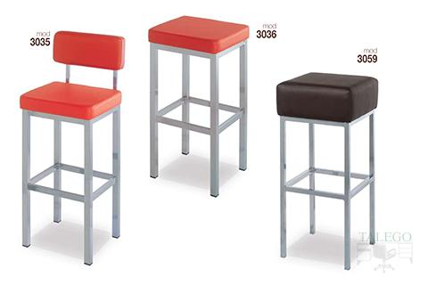 Taburetes de bar metálicos gh modelos 3035,3036 y 3059