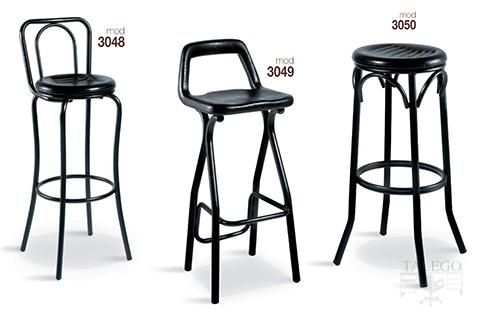 Taburetes de bar metálicos gh modelos 3048,3049 y 3050