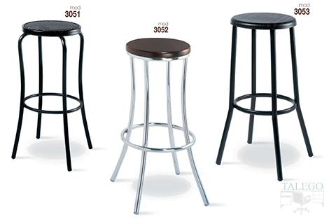 Taburetes de bar metálicos gh modelos 3051,3052 y 3053