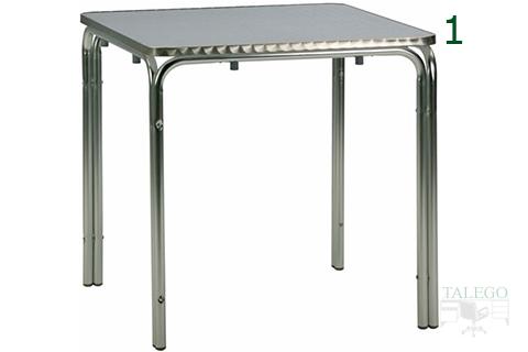 Mesa de aluminio cuadrada para terrazas