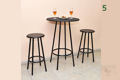 Mesa y Taburetes Dolmeta para bar