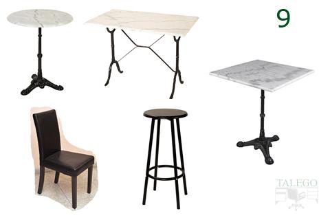 Conjunto de mesas sillas y taburetes para bar de importacion