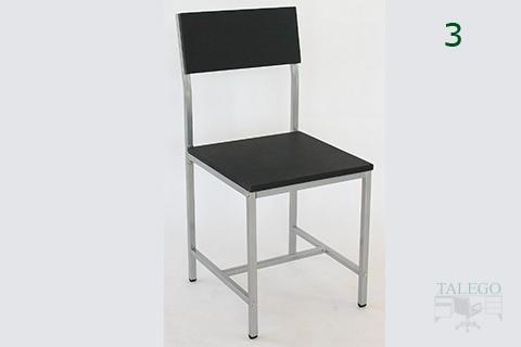 Silla milanota con estructura metalica y asiento en pvc