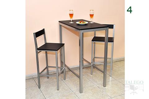 Conjunto de mesa alta y taburetes del modelo Milanota
