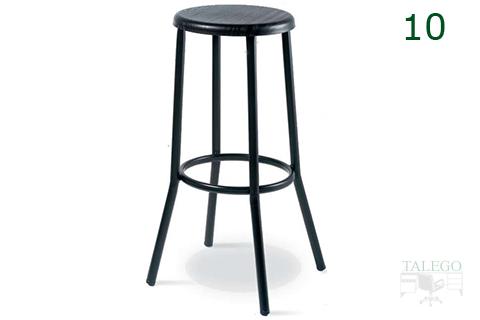 Tabuerete de bar negro con estructura negra gh 3053