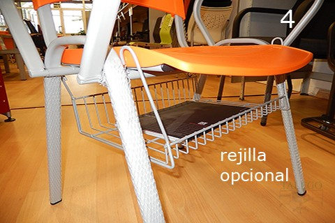 Vista de rejilla opcional aplicable en sillas de pala acuario