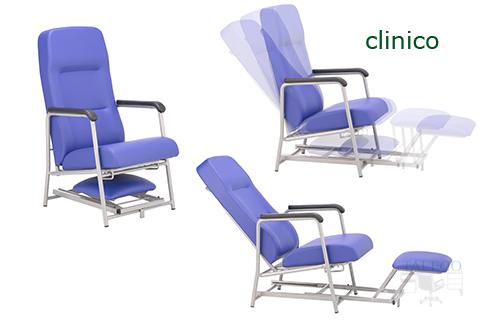 Vista con posiciones diferentes en sillon multiposicion